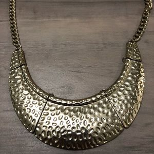 Gold plated costume necklace.